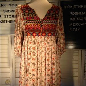 Umgee 3/4 sleeves women's size small blouse
